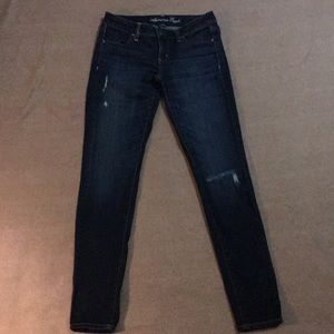 Women's American Eagle Sz 4 Dark Wash Jegging